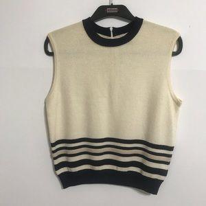 ST. JOHN Collection Sleeveless Knit Sweater Medium